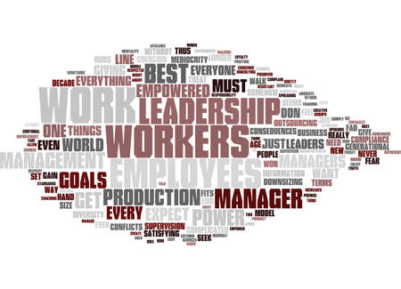 EMPOWERED LEADERSHIP Text Background Word Cloud Concept