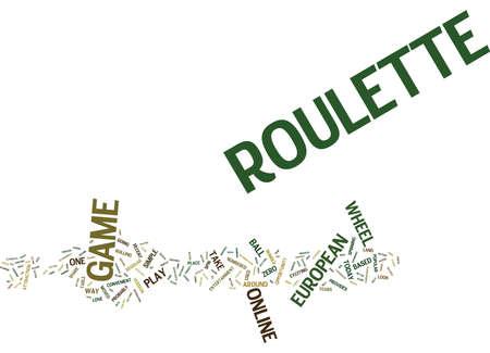 EUROPEAN ROULETTE Text Background Word Cloud Concept Illustration