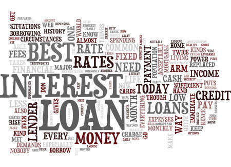 BEST LOAN Text Background Word Cloud Concept Illustration