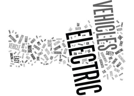 ELECTRIC VEHICLES Text Background Word Cloud Concept
