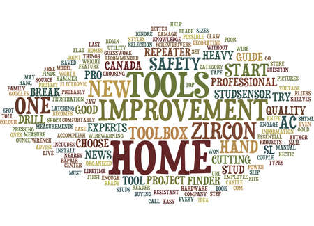 ESSENTIAL TOOLS FOR HOME IMPROVEMENT Text Background Word Cloud Concept Illustration