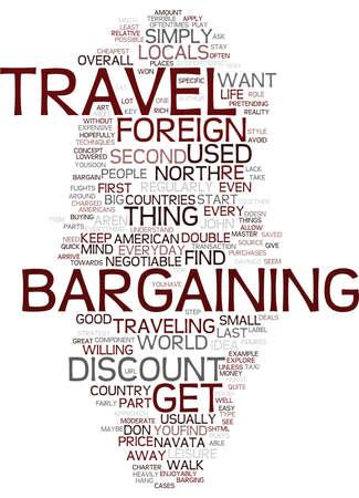 テキスト背景単語雲概念は外国に旅行するときに交渉する理由を見つける