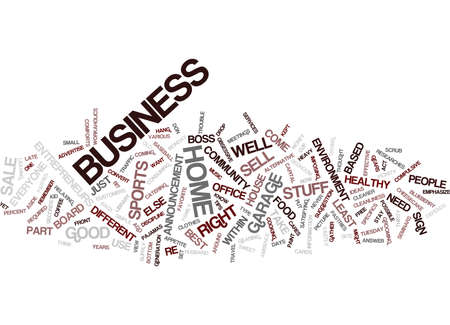 ENTREPRENEUR HOME BUSINESS Text Background Word Cloud Concept Иллюстрация
