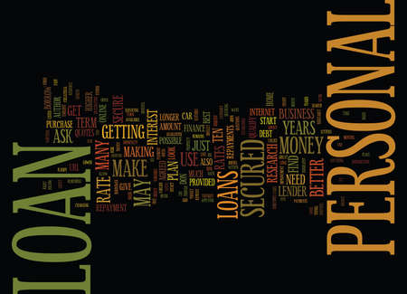 BEST WAYS TO SECURE A PERSONAL LOAN Text Background Word Cloud Concept