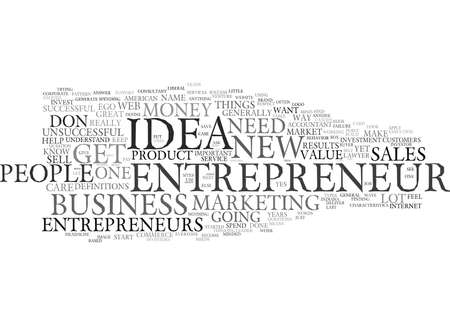 EGO AND THE ENTREPRENEUR Text Background Word Cloud Concept 向量圖像