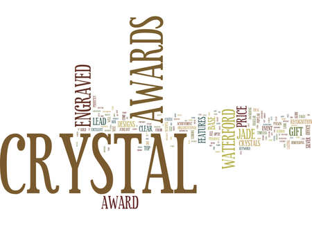ENGRAVED CRYSTAL AWARDS Text Background Word Cloud Concept