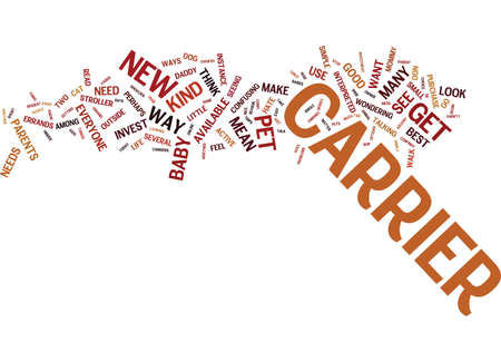 EVERYONE COULD USE A CARRIER Text Background Word Cloud Concept Vetores