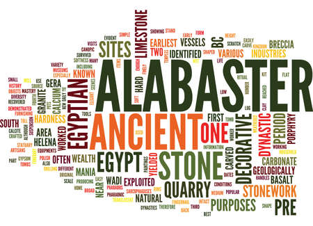 EGYPTIAN ALABASTER Text Background Word Cloud Concept Illustration