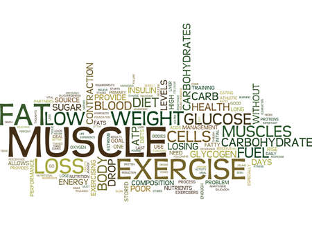 EXERCISE AND LOW CARB DIET S MAKE POOR PARTNERS Text Background Word Cloud Concept Illustration
