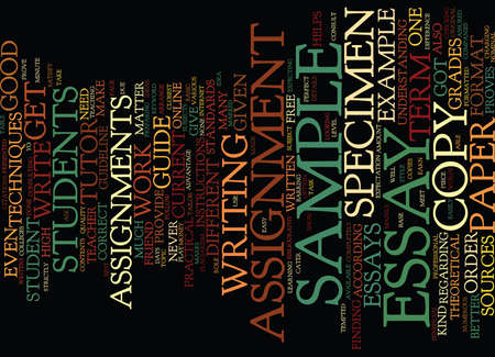 helps: EXAMPLE OF A TERM PAPER Text Background Word Cloud Concept