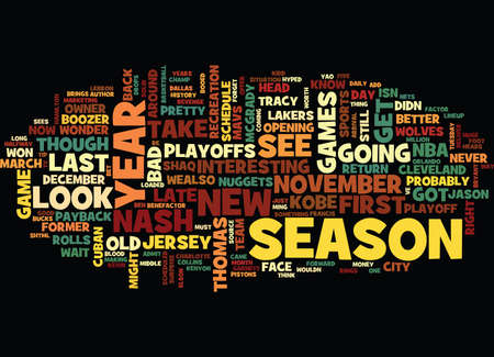 FIRST LOOK THE NBA SCHEDULE Text Background Word Cloud Concept