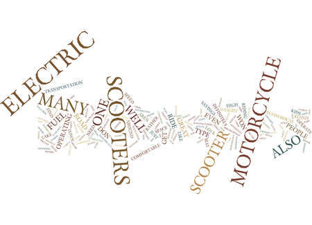ELECTRIC SCOOTERS Text Background Word Cloud Concept Иллюстрация