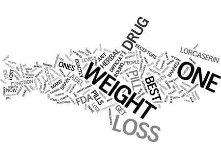 BEST WEIGHT LOSS PILLS Text Background Word Cloud Concept Ilustração