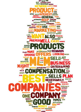 ve: BEST MLM COMPANIES HOW TO FIND THEM Text Background Word Cloud Concept
