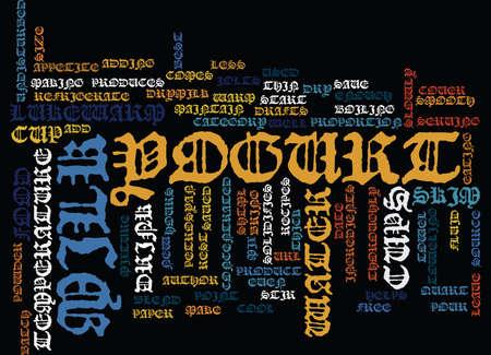 BEST RECIPES YOGURT Text Background Word Cloud Concept