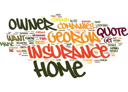 低レート グルジア ホーム オーナー保険の見積もり本文背景単語雲概念を見つける