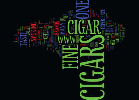 FINE CIGARS Text Background Word Cloud Concept Illustration