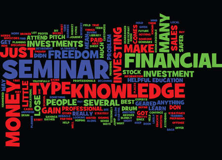 FINANCIAL FREEDOM SEMINAR Text Background Word Cloud Concept