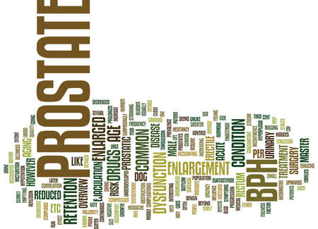ENLARGED PROSTATE AN OVERVIEW Text Background Word Cloud Concept