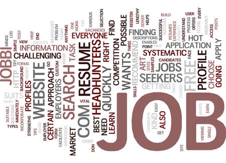 FIND A JOB Text Background Word Cloud Concept