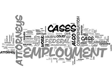 EMPLOYMENT ATTORNEYS Text Background Word Cloud Concept Çizim