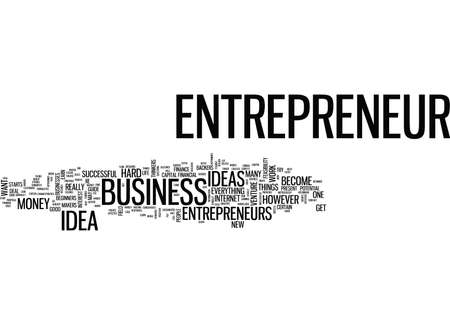 ENTREPRENEUR IDEA GUIDE Text Background Word Cloud Concept