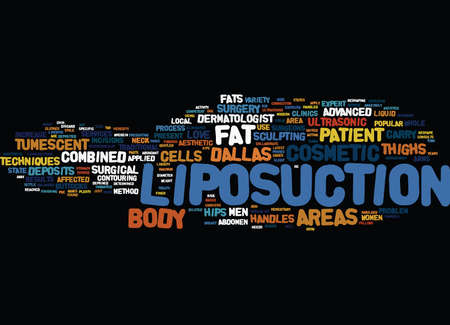 ENJOY A RESHAPED BODY Text Background Word Cloud Concept Illustration
