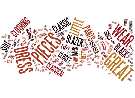 FIVE CLASSIC PIECES YOU MUST HAVE IN YOUR CLOSET Text Background Word Cloud Concept Stok Fotoğraf - 82569392