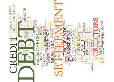 ELIMINATE DEBT WITHOUT BANKRUPTCY Text Background Word Cloud Concept