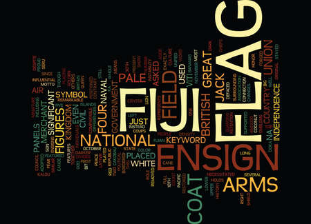 comparable: FIJI FLAG Text Background Word Cloud Concept Illustration