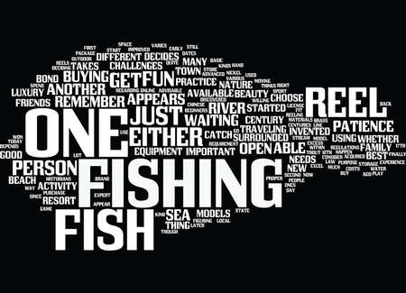 FISH FOR REEL Text Background Word Cloud Concept