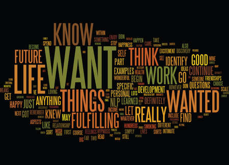 ESTABLISH WHAT YOU WANT WITH NLP Text Background Word Cloud Concept