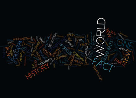 END OF HISTORY NOT QUITE Text Background Word Cloud Concept Ilustração