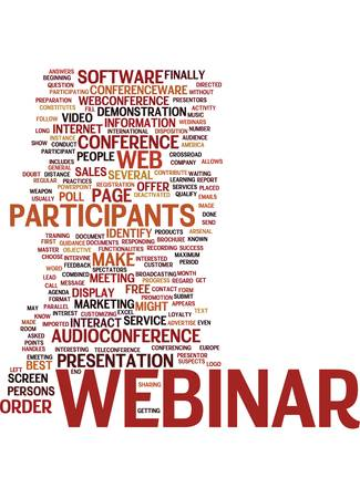 qualify: BEST PRACTICES FOR WEBINAR Text Background Word Cloud Concept
