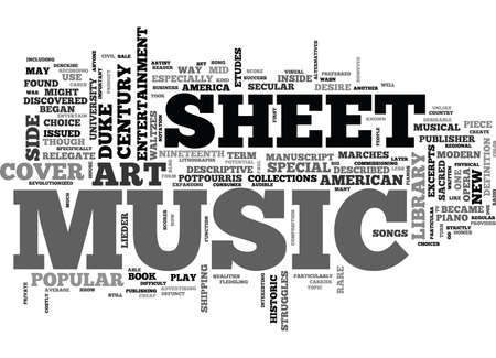 FIRST SHEET MUSIC Text Background Word Cloud Concept