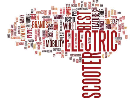 ELECTRIC SCOOTER BRANDS Text Background Word Cloud Concept