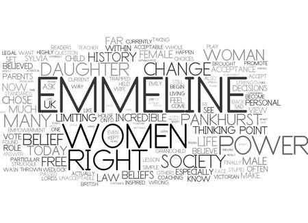 EMPOWERMENT FOR WOMEN THE POWER IS WITHIN YOU Text Background Word Cloud Concept Ilustração