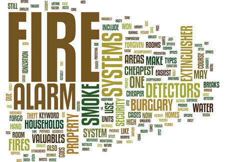 FIRE ALARM SYSTEMS Text Background Word Cloud Concept