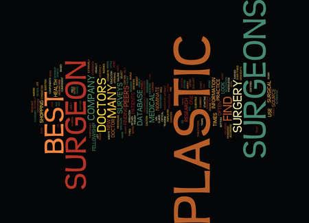 BEST PLASTIC SURGEONS Text Background Word Cloud Concept