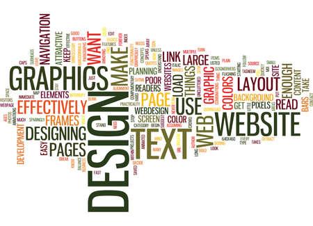 EFFECTIVE WEB DESIGN Text Background Word Cloud Concept Ilustração