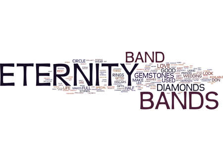 ETERNITY BANDS DO LAST FOREVER Text Background Word Cloud Concept