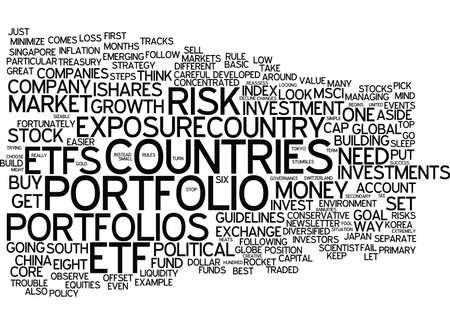 ETF 성공을위한 8 가지 규칙 텍스트 배경 단어 구름 개념