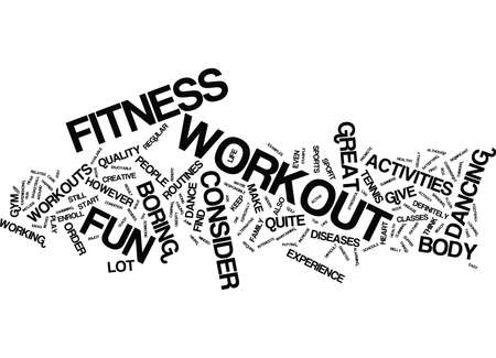 FITNESS WORKOUT FOR YOUR FINANCIAL MUSCLES Text Background Word Cloud Concept Illustration