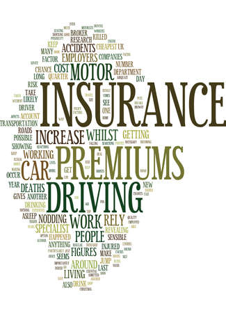EMPLOYERS MOTOR INSURANCE PREMIUMS COULD RISE Text Background Word Cloud Concept