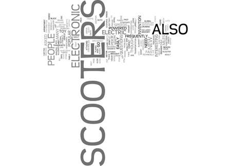ELECTRONIC SCOOTER FAQ Text Background Word Cloud Concept