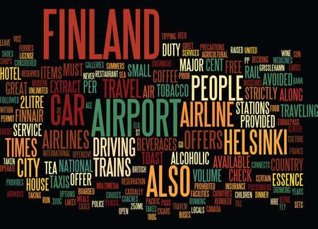 FINLAND Tekst Achtergrond Word Cloud Concept