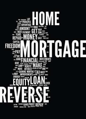 qualify: FINANCIAL FREEDOM REVERSE MORTGAGE FORGET CAPITAL GAINS TAX Text Background Word Cloud Concept