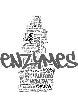 ENZYMES AND YOU Text Background Word Cloud Concept