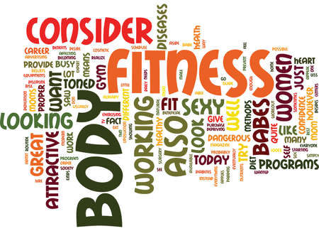 babes: FITNESS BABES Text Background Word Cloud Concept