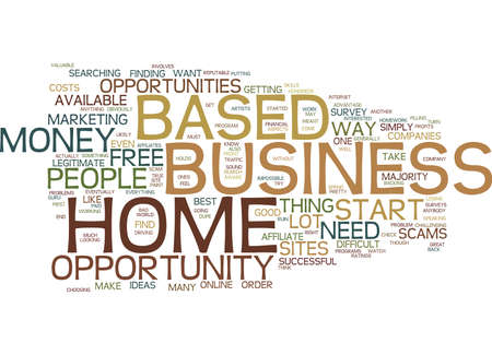 FIND A FREE HOME BASED BUSINESS OPPORTUNITY Text Background Word Cloud Concept Illustration